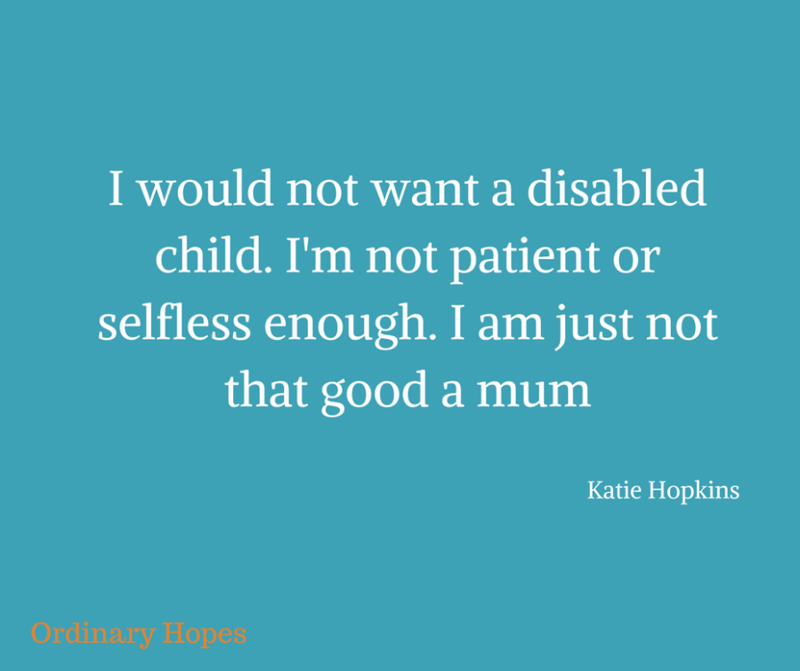 10 things you may not know about parenting a disabled child.