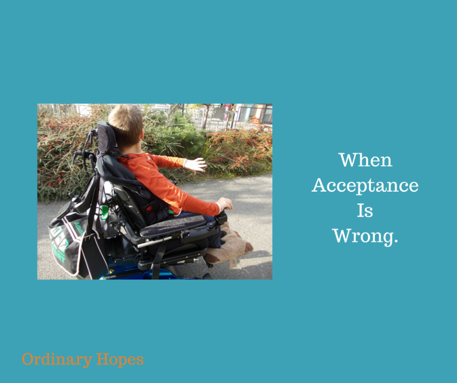 When acceptance is wrong.