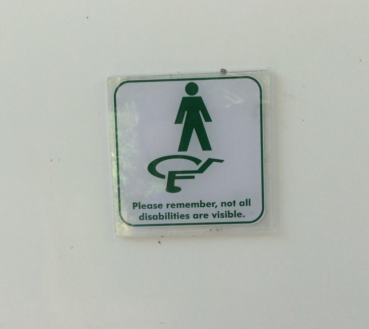 "Maybe it means ""throw your wheelchair on the floor because it won't fit in here""?"